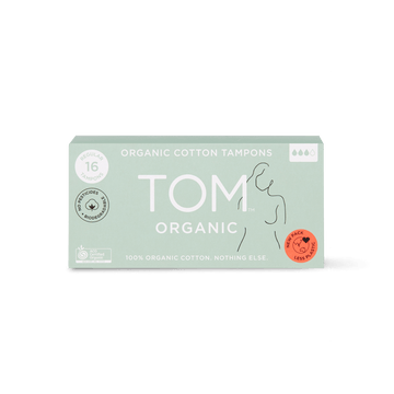 TOM Organic cotton regular tampons 16 pack