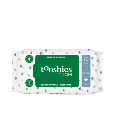 tooshies by TOM biodegradable water wipes single pack