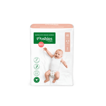 tooshies infant bamboo nappy size 2 bulk pack