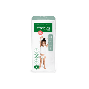 tooshies single bamboo walker nappy size 5 32 pack