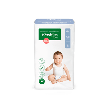tooshies size 3 bamboo crawler nappy pack