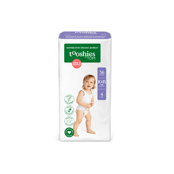 tooshies size 4 organic bamboo nappies toddlers 36 pack