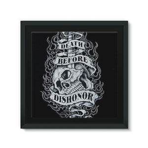 Death Before Dishonor Framed Canvas - We Insignia