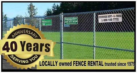 Statewide Rent-a-Fence 40th Anniversary Spokane Pasco yards