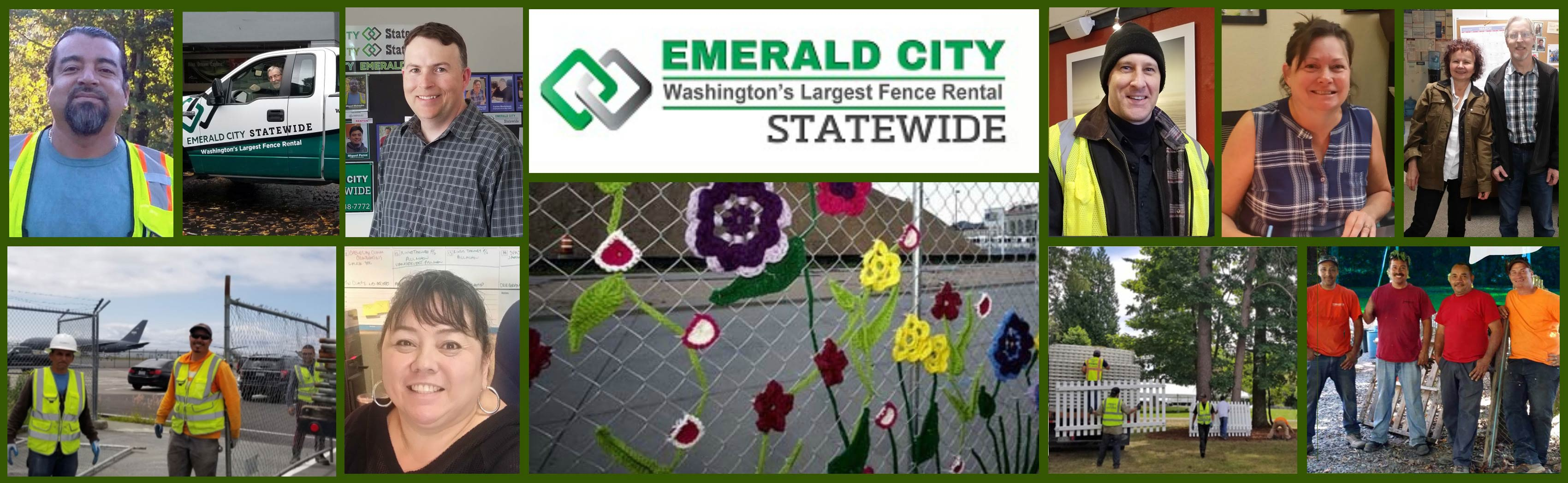 Emerald City Statewide fence rental staff