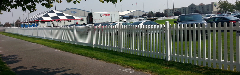 Temporary White Picket Fencing