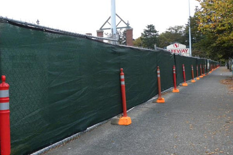 fence fabric windscreen Emerald City Fence Rentals
