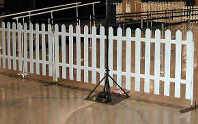 picket fence indoor Emerald City Fence Rentals