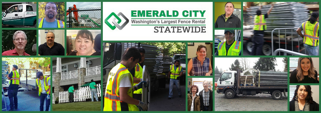 temporary rental fence Emerald City Statewide Washington state