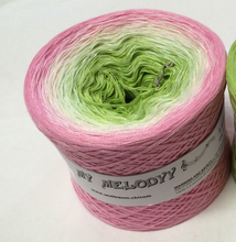 lukeys_boat_wolltraum_pink_rose_white_green_leaf_gradient_yarn