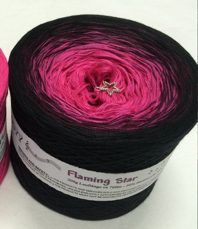flaming_star_wolltraum_fuchsia_black_yarn