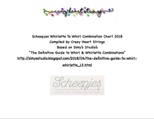 """Scheepjes Whirlette To Whirl Combination Chart 2018-19"""