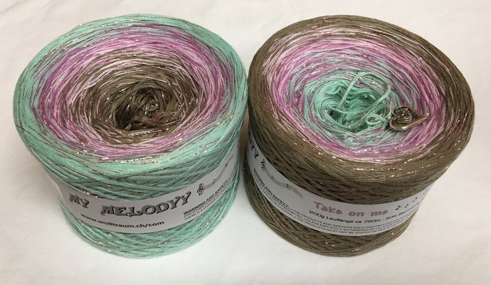 take_on_me_wolltraum_glitter_mint+green_pink_brown_gradient_ombre_yarn