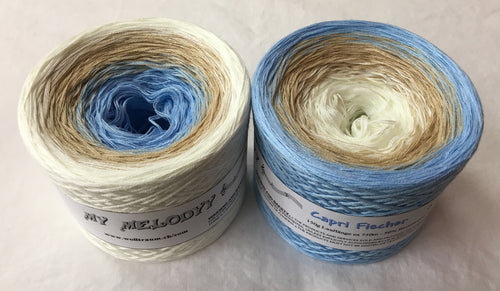 capri_fischer_wolltraum_white_tan_blue_gradient_fingering_yarn