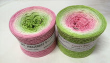 lukeys_boat_wolltraum_pink_rose_white_green_leaf_gradient_ombre_yarn