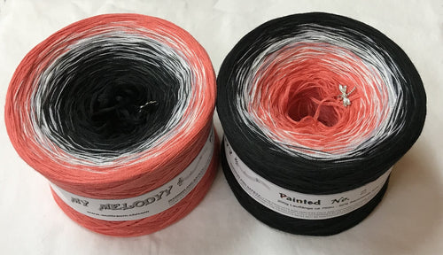 painted_2_wolltraum_pink_salmon_coral_black_gradient_ombre_yarn