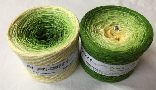 poison_wolltraum_yellow_cream_green_moss_leaf_gradient_ombre_yarn