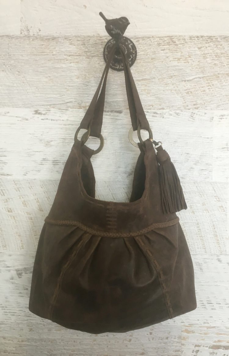 Cybelle Boho Hand Bag - Chocolate Leather