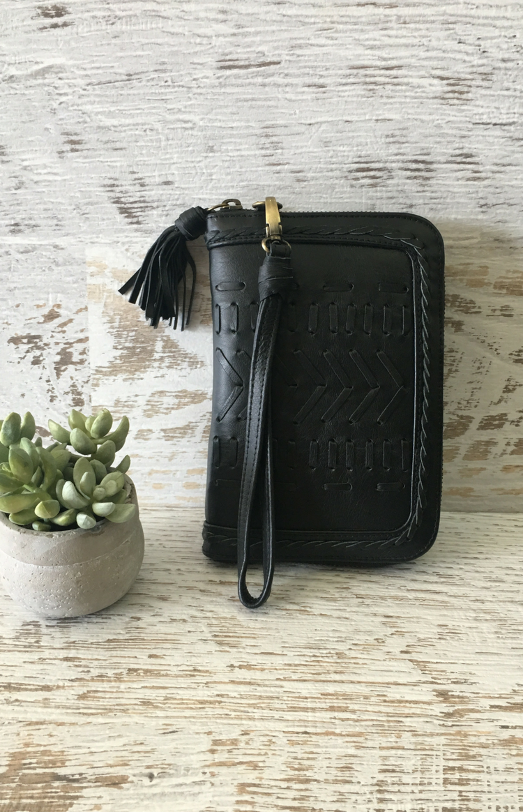 Blue Muse - Metis Wallet - Black Leather