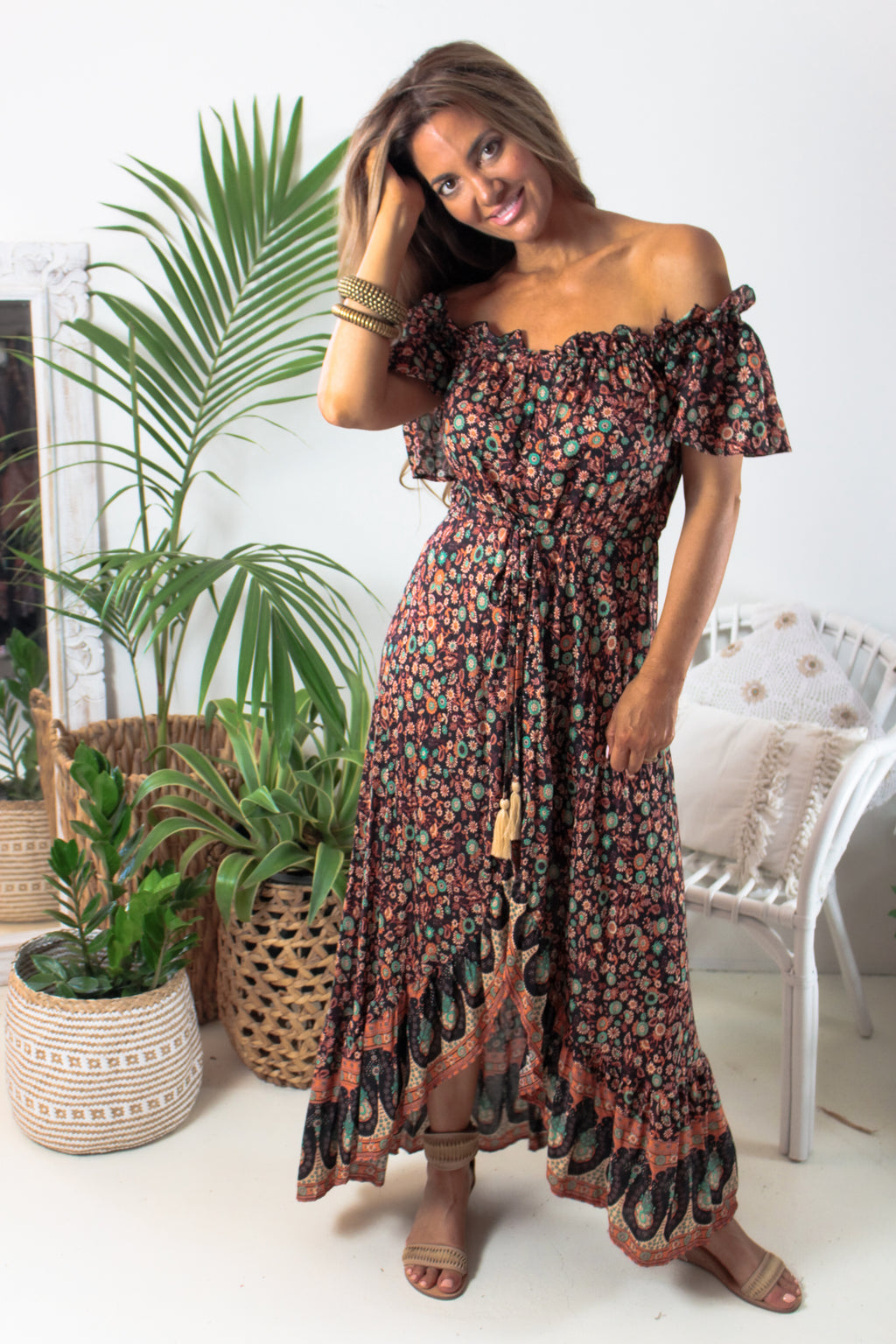 AFTERPAY SELENE MAXI DRESS PRINT