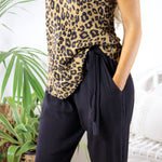 WILD WOMAN CAMI - TOFFEE LEOPARD