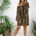 WILD WOMAN TUNIC - TOFFEE LEOPARD