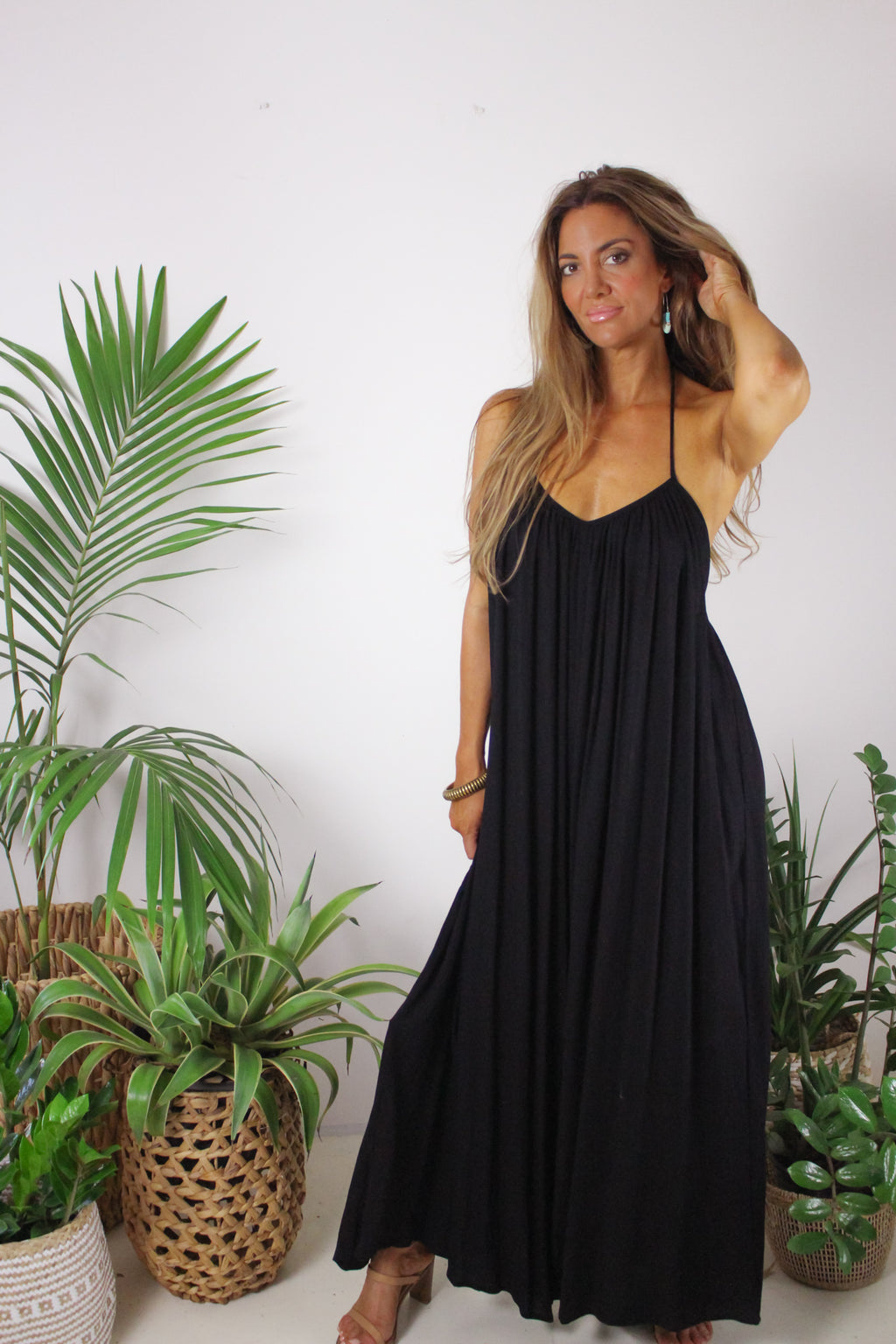AFTERPAY WIDE LEG PANTSUIT BLACK