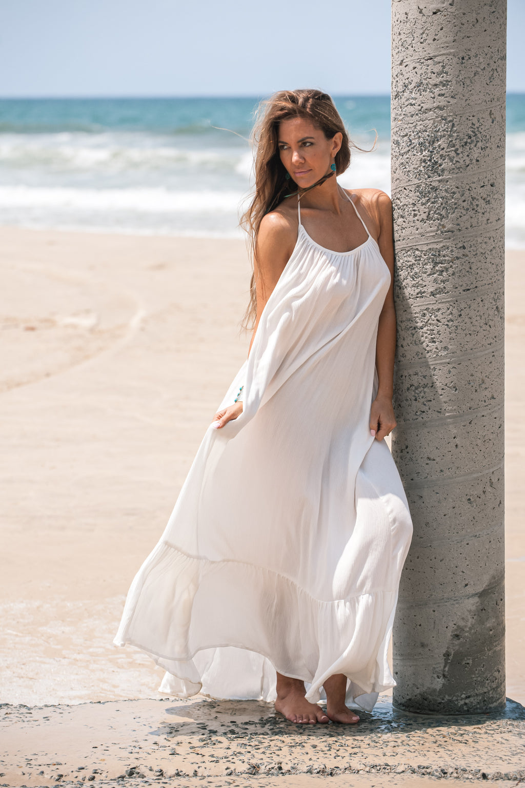 AFTERPAY MAXI DRESS WHITE