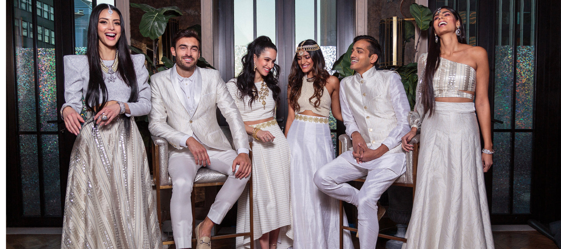 Matching Outfits in White and Silver - Harleen Kaur