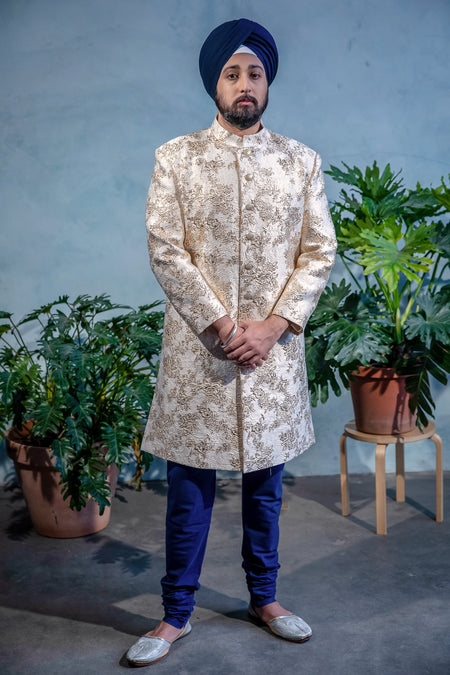 RANJA Patterned Sherwani Jacket