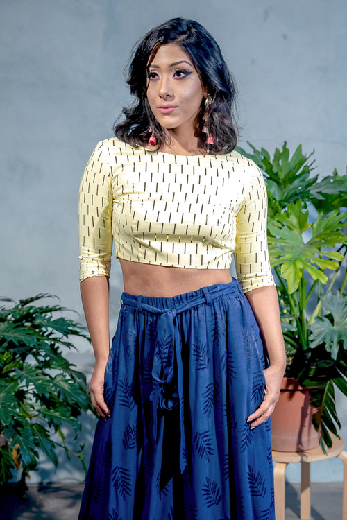 ANOOR Gold Foil Top - Front View - Harleen Kaur - South Asian Womenswear