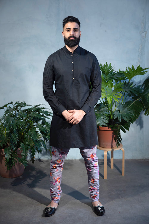 JEEVAN Marigold Floral Pant - Front View - Harleen Kaur - Indian Menswear