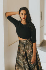 ANOOR Stretch Lehenga Top - Front View - Harleen Kaur - Indian Womenswear
