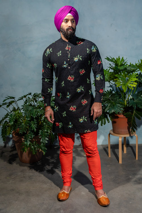 SUMEET Floral Embroidered Eyelet Shirt - Front View - Harleen Kaur