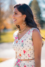 Sidra Double Diamond Floral Cotton Crop Top - Harleen Kaur