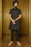 RAYMAN Diamond Cotton Shirt - Front View - Harleen Kaur - Modern Indian Menswear