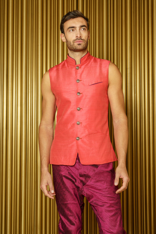 ARJUN Silk Bandi New - Front View - Harleen Kaur - Indian Menswear