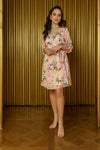 SHANA Floral Blossom Wrap Dress - Front View - Harleen Kaur - South Asian Womenswear