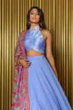SAMAIRA Silk Halter Crop Top