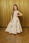 NILAH Iridescent Sequin Kids Top - Front View - Harleen Kaur - Indian Kidswear