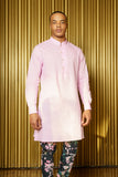 SAMIR Modern Kurta Lilac Shirt - Front View - Harleen Kaur -  South Asian Menswear