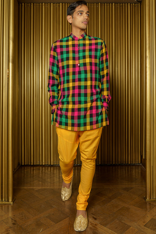 PIND Plaid Kurta