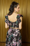 KAIA Floral Blossom Crop Top - Back View - Harleen Kaur - Ethically Made Womenswear