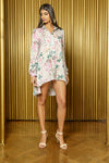 DEEPA Floral Blossom Button Down Blouse Dress - Front View - Harleen Kaur - South Asian Womenswear