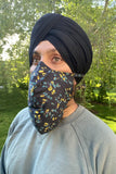 Men's Face Mask Adjustable - Side View - Harleen Kaur - Indowestern Menswear
