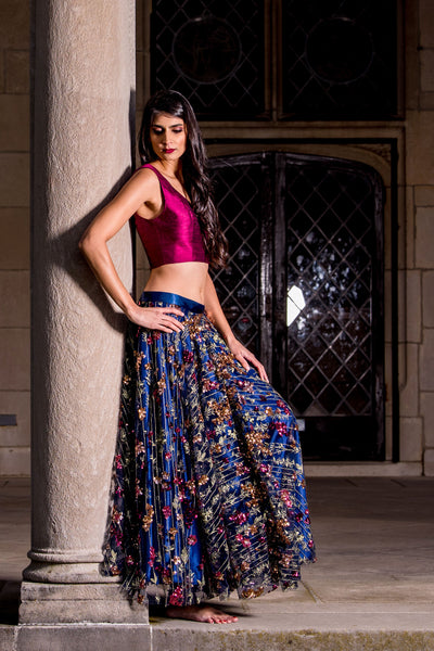 SONIA Sleeveless Silk Top in Wine - HARLEEN KAUR