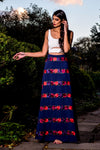 MELIA Floral Embroidered Skirt in Navy - HARLEEN KAUR