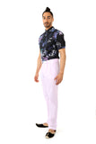 TONY Mens Trousers in Lavender with Pockets | HARLEEN KAUR