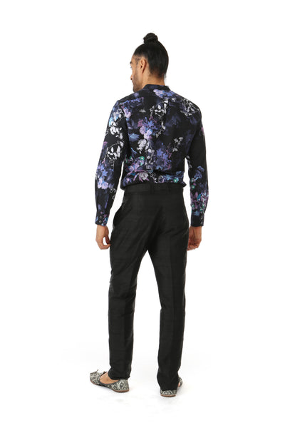 Harleen Kaur TONY Mens Pants in Black with Pockets - Back View