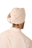 Harleen Kaur MAHA Cotton Silver Hearts Pagh in Lavender - Back View